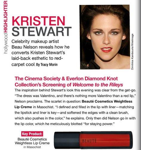 MakeUp Artist Beau Nelson Talks about Kristen with Beauty Etc Mag