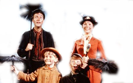 Mary Poppins, Bert and Jane and Michael Banks