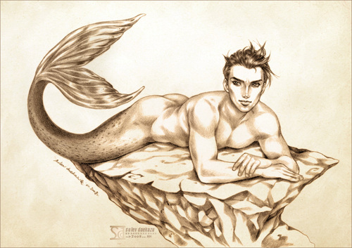 Merman - mermaids Fan Art