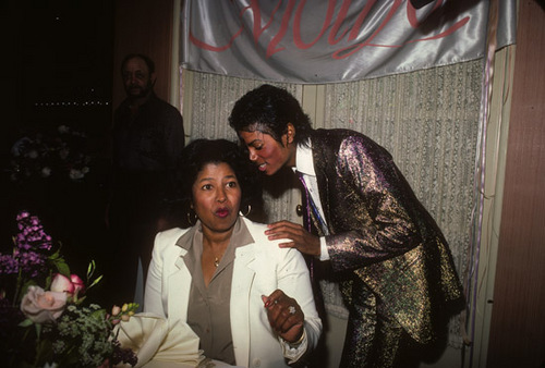 Michael Jackson with his mother! How sweet! :)