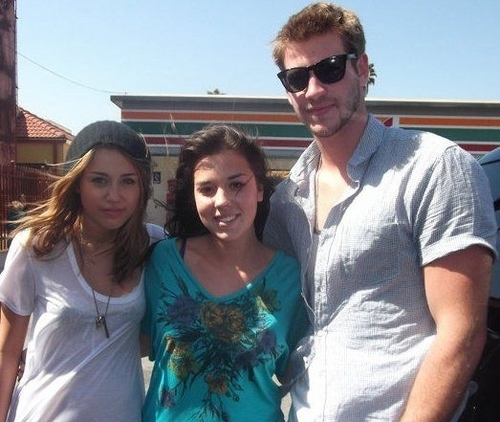 Miley With Friends/Fans