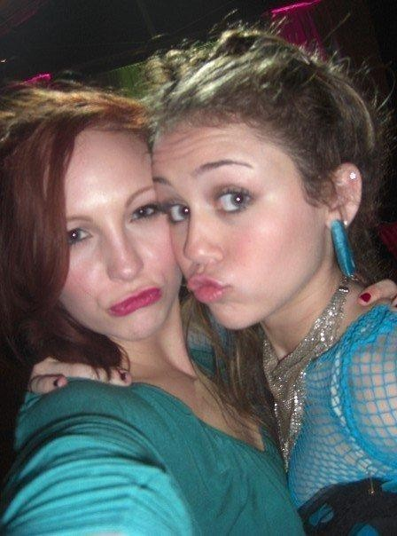 New/Old 사진 of Candice and Miley Cyrus!