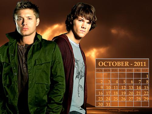 October 2011 - Dean & Sam (calendar)