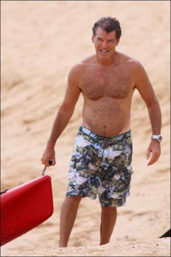 PIERCE BROSNAN SHIRTLESS 1