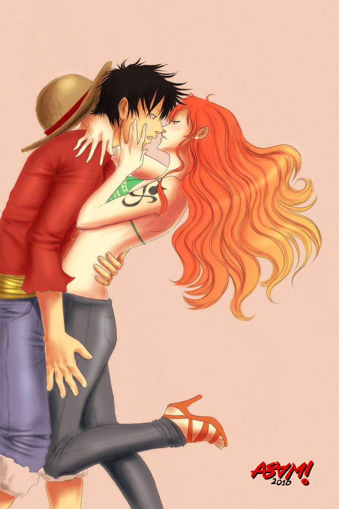 Pics Photos - One Piece Luffy And Nami Kiss