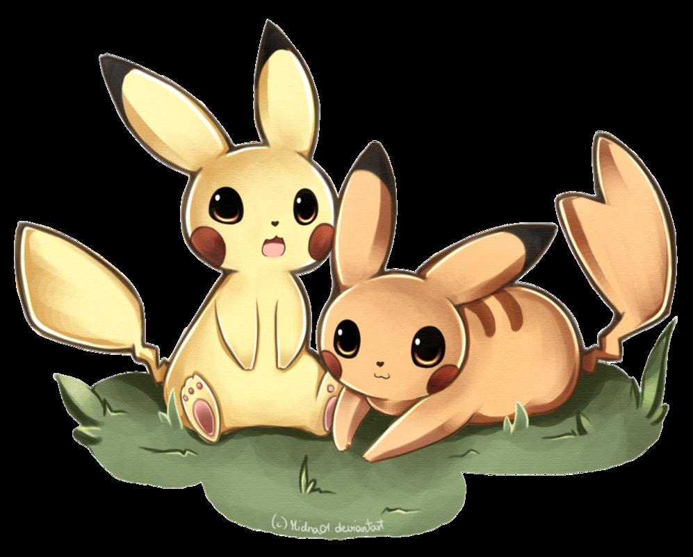 cute pikachu couple pokemon - photo #17