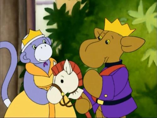 Prince Elliot Moose and Princess Socks