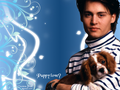 Puppy love? - johnny-depp wallpaper