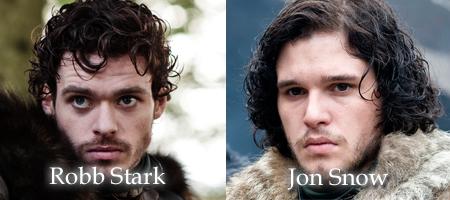 Robb Stark and Jon Snow