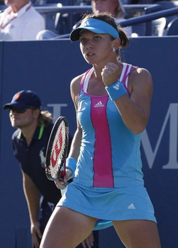 Romanian টেনিস player Simona Halep: She has the small breast! She let it reduce again?