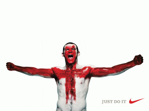 Rooney NIKE Just do it - soccer Photo