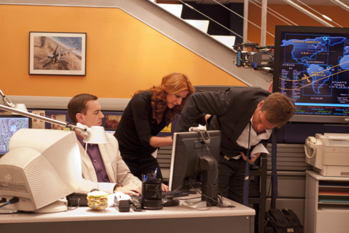 Sean, Michael + Diane on Set - 31st August 2011