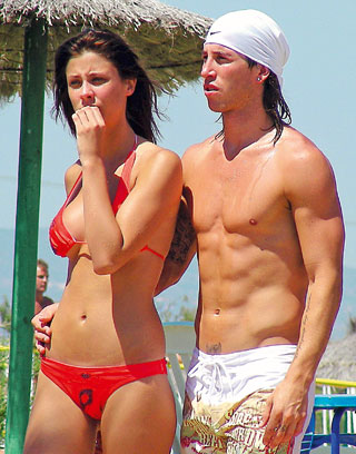Sergio And His Ex Girlfriend   Sergio Ramos Photo