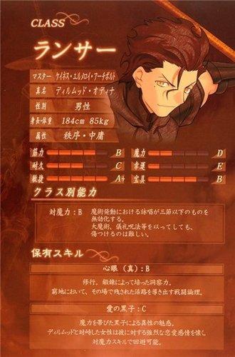 Servant Lancer - stats