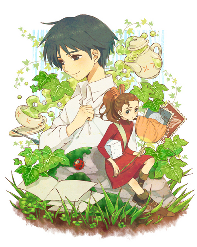 Karigurashi no Arrietty wallpaper titled Shou and Arrietty