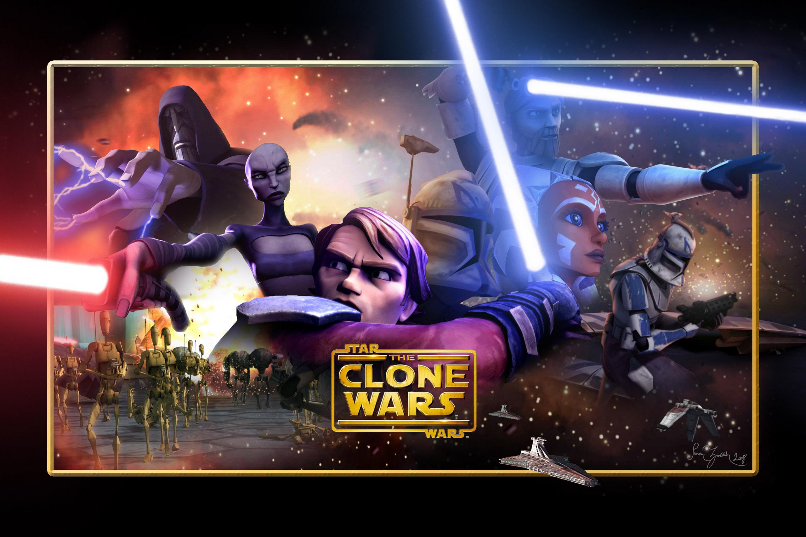 Obi wan anakin and ahsoka star wars clone wars