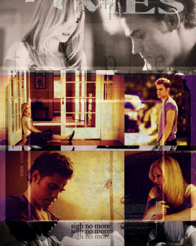 The Vampire Diaries Couples wallpaper probably containing a sign and a diner titled Steroline