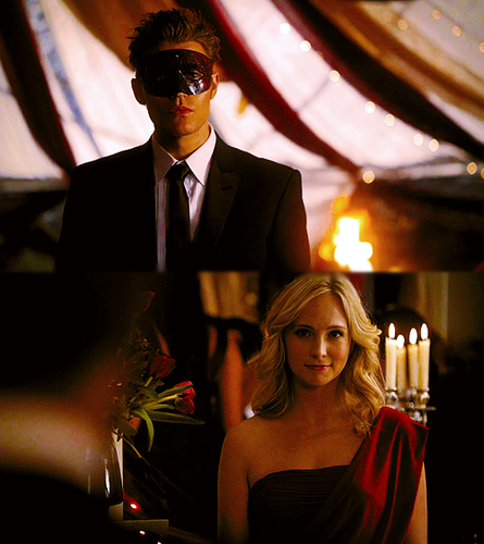 The Vampire Diaries Couples 壁纸 with a business suit titled Steroline