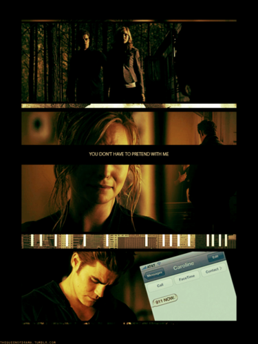 The Vampire Diaries Couples Обои entitled Steroline