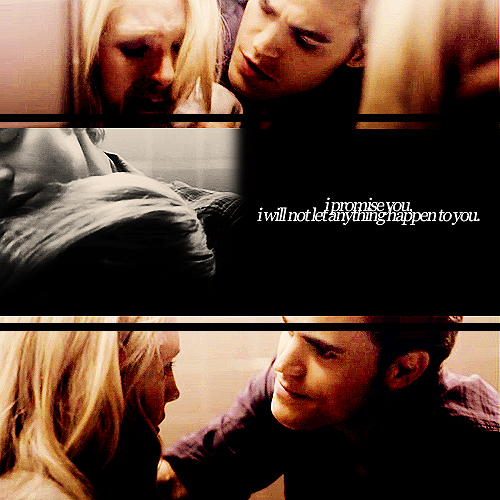 The Vampire Diaries Couples wallpaper probably with a sign entitled Steroline