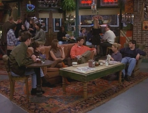 Friends wallpaper containing a brasserie, a restaurant, and a bistro called The Gang At Central Perk