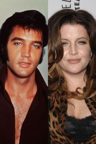 Elvis Aaron e Lisa Marie Presley wallpaper with a portrait entitled The same!