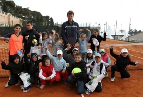 Tomas Berdych with children