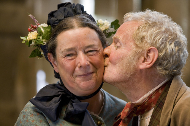 Lark Rise To Candleford Images Twister And Queenie Wedding Kiss Wallpaper Background Photos