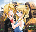 Winry and Edward - edward-elric-and-winry-rockbell fan art