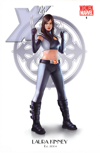 X-Men wallpaper possibly containing hosiery, a legging, and a hip boot called X-23