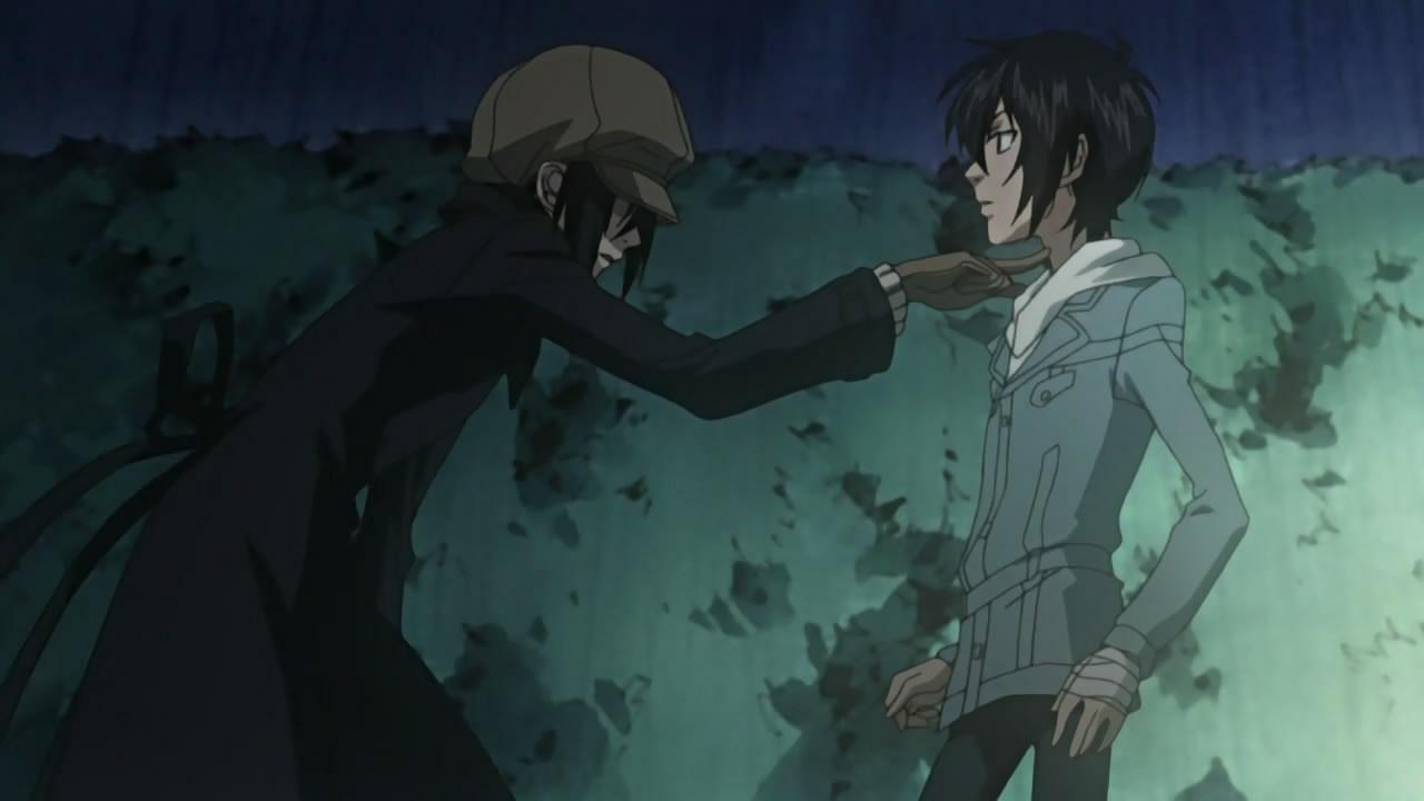 Nabari No Ou Miharu And Yoite Yoite threatening Miharu