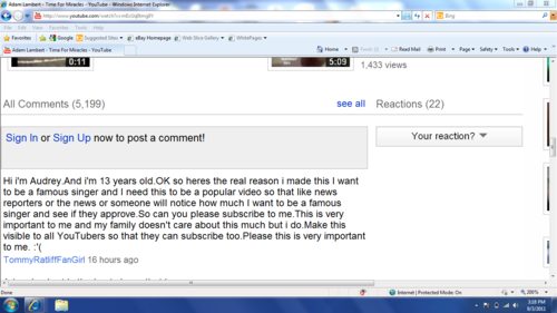 YouTube commentaire fail.XD