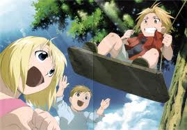 Edward Elric and Winry Rockbell Hintergrund entitled childhood