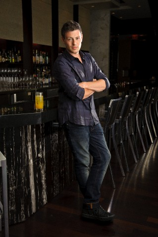 Cory Monteith wallpaper possibly containing a hip boot, slacks, and a street titled cory-monteith