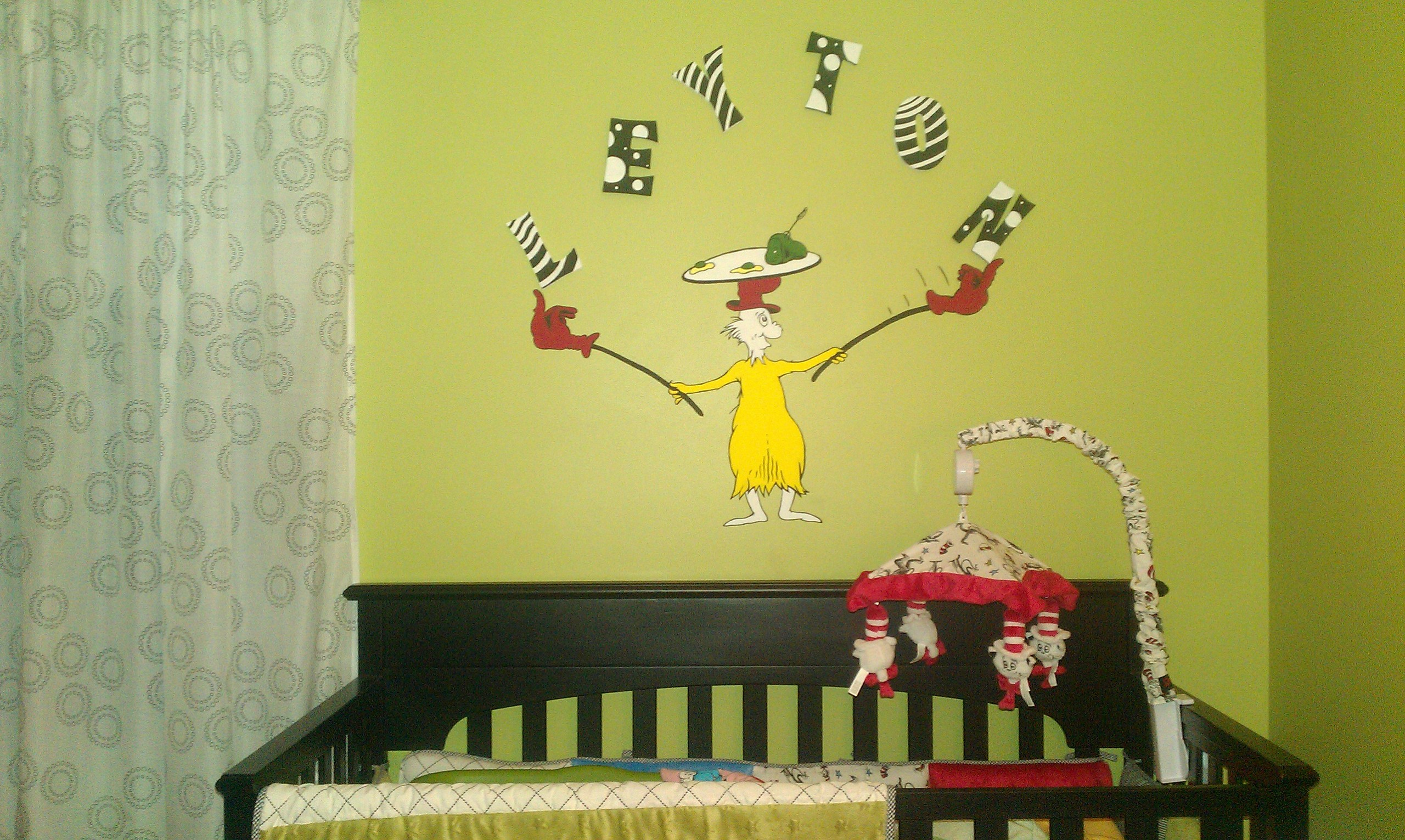 Dr seuss nursery mural dr seuss photo 25056621 fanpop for Dr seuss wall mural