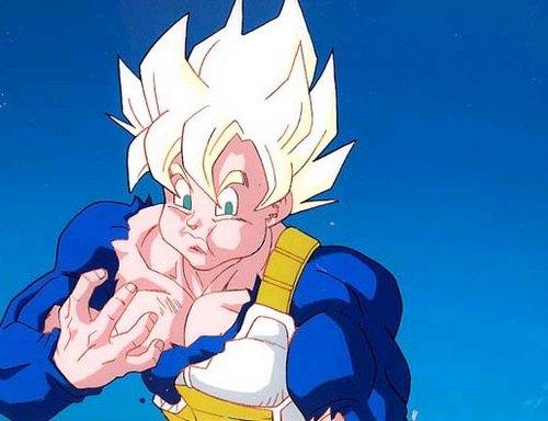 Goku eating