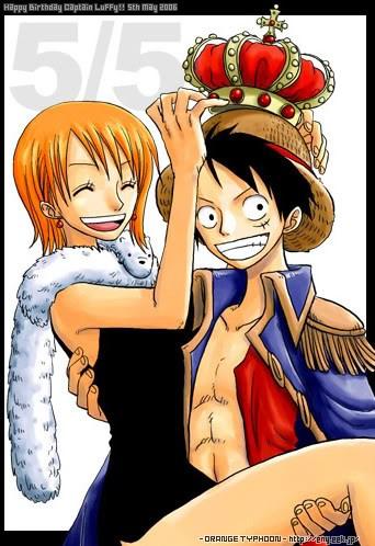 nami crowning the king