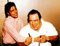 rare with frank - michael-jackson photo