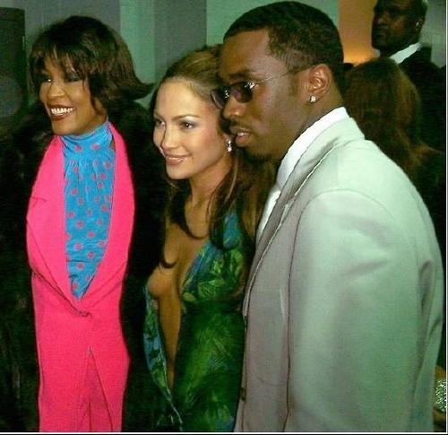 whitney houston, jennifer lopez, puff daddy