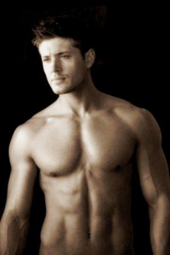 Dean Winchester kertas dinding with a six pack and a hunk entitled *DeanForever*
