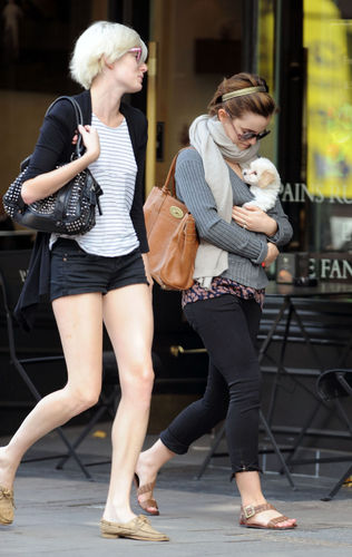Emma Out in London with Sophie and Sophie's puppy