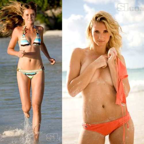 Dani & Tati in Sports Illustrated zwempak, badpak