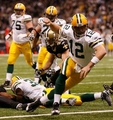 Aaron Rodgers in action