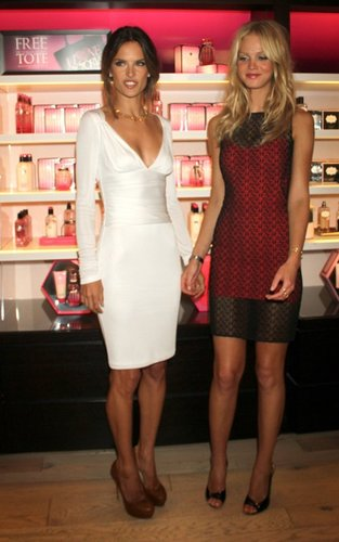 Alessandra Ambrosio at the Victoria's Secret store for Fashion's Night Out (September 8).