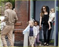 Angelina Jolie & Brad Pitt: Smurfs with the Kids! - brad-pitt photo