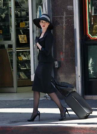 Anne Hathaway On the Set of TDKR 7.9.2011 - the-dark-knight-rises Photo