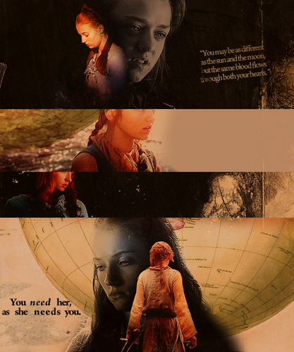 Arya and Sansa Stark