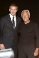 Beckham and Giorgio Armani