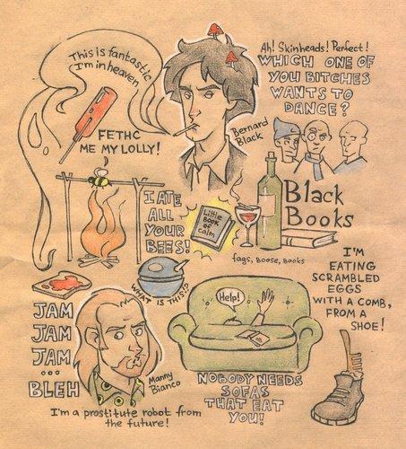 Black Books doodles