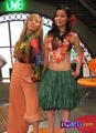 Carly & Sam as hula girls
